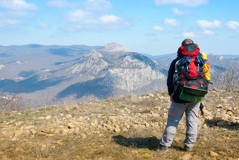Download Hiker on a peak stock image. Image of achievement, person - 13836785