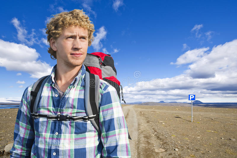 Download Hiker portrait stock image. Image of barren, route, remote - 28027989
