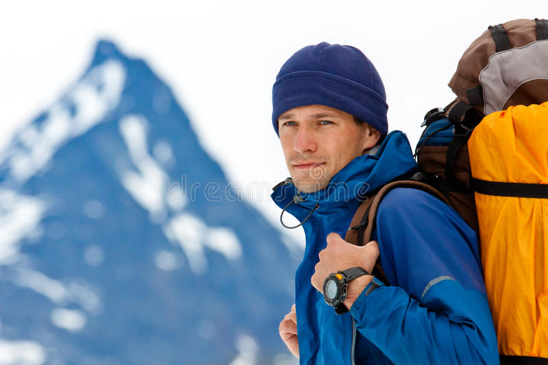 Hiker's portrait royalty free stock images