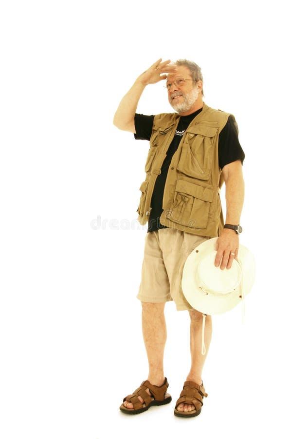 Hiker senior man royalty free stock image