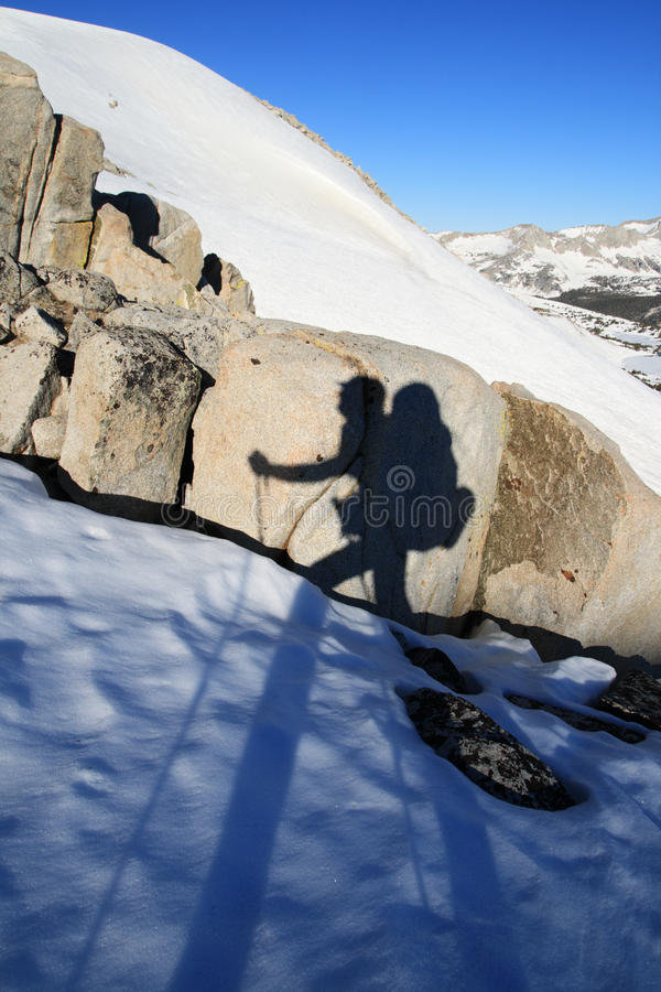 Download Hiker shadow stock photo. Image of pack, wilderness, hiker - 20192744