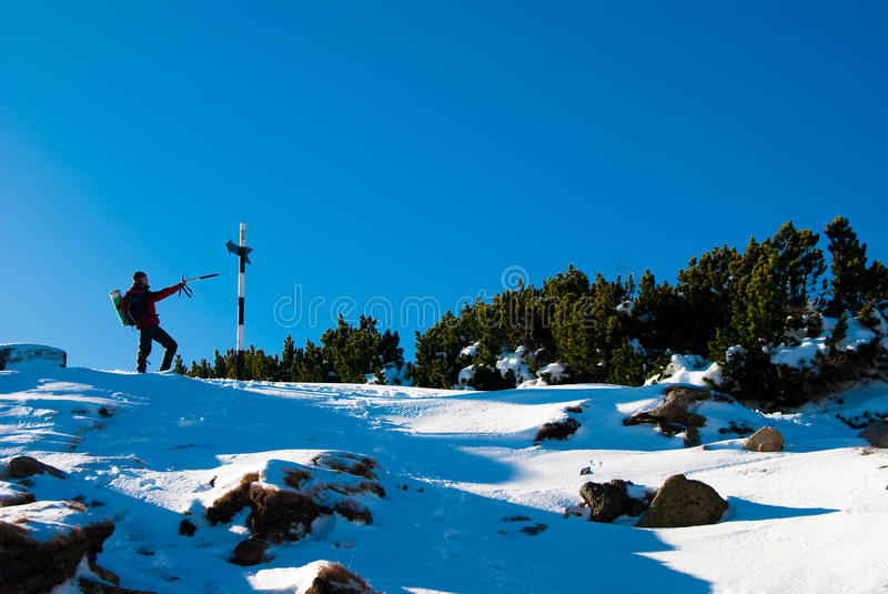 Download Hiker Showing Direction Stock Images - Image: 12621874