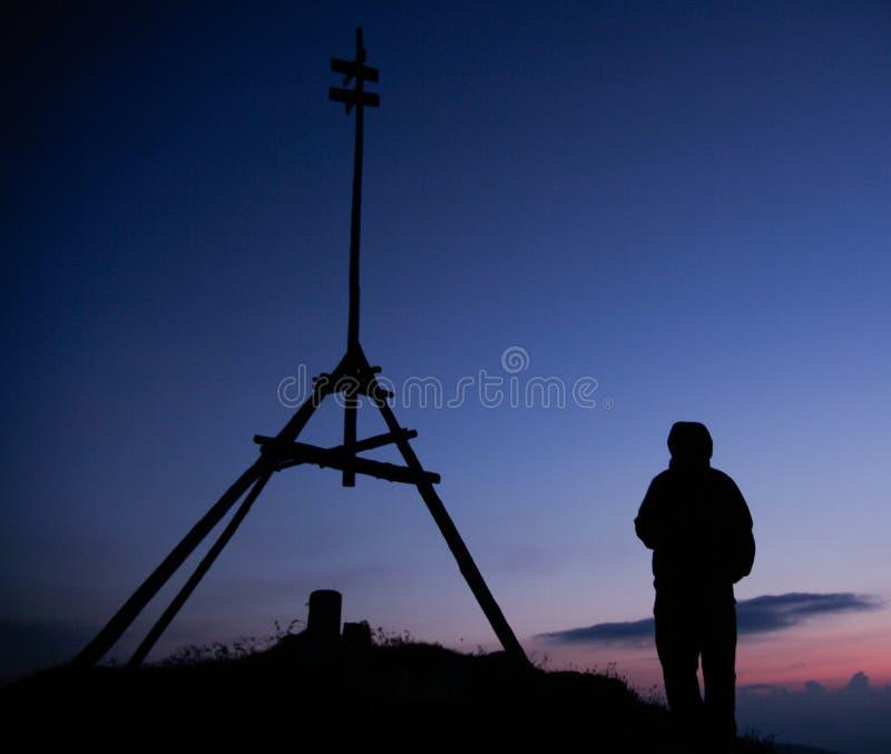 Download Hiker silhouette stock image. Image of erdely, hiker - 17802119