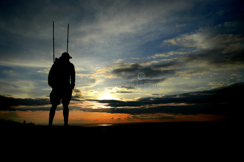 Download Hiker Silhouette stock photo. Image of clouds, exercise - 7853136