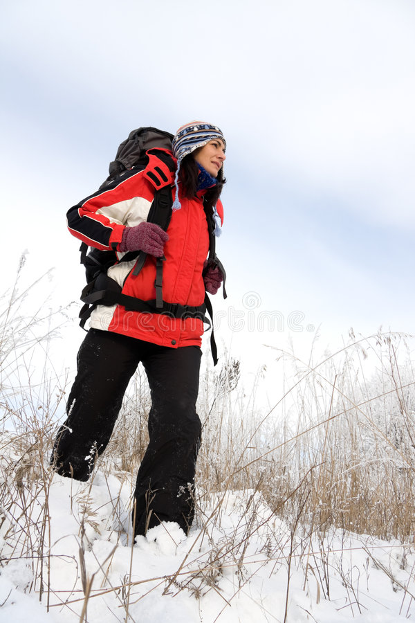 Download Hiker on the snow stock image. Image of cold, outdoors - 7715967