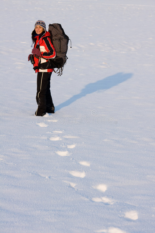 Download Hiker On The Snow Royalty Free Stock Photo - Image: 7716285