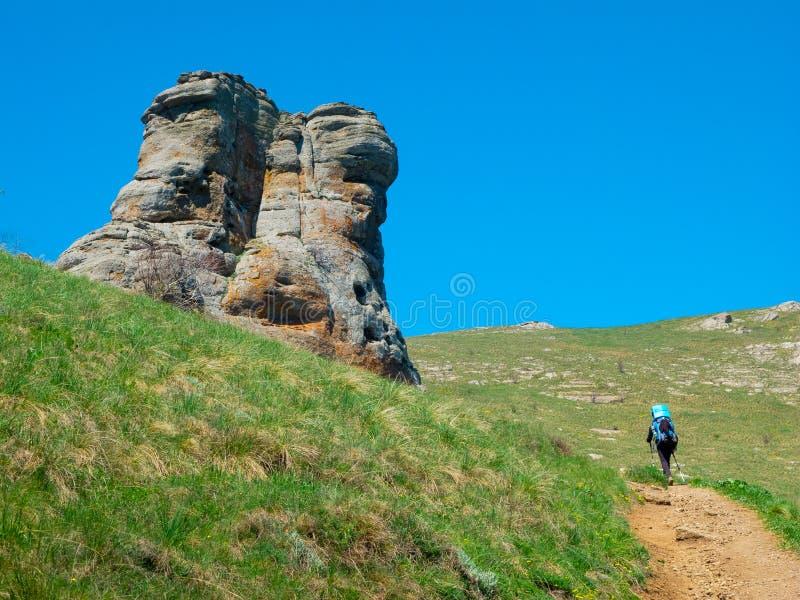 Download Hiker trekking in Crimea stock image. Image of hill, adventure - 35846293