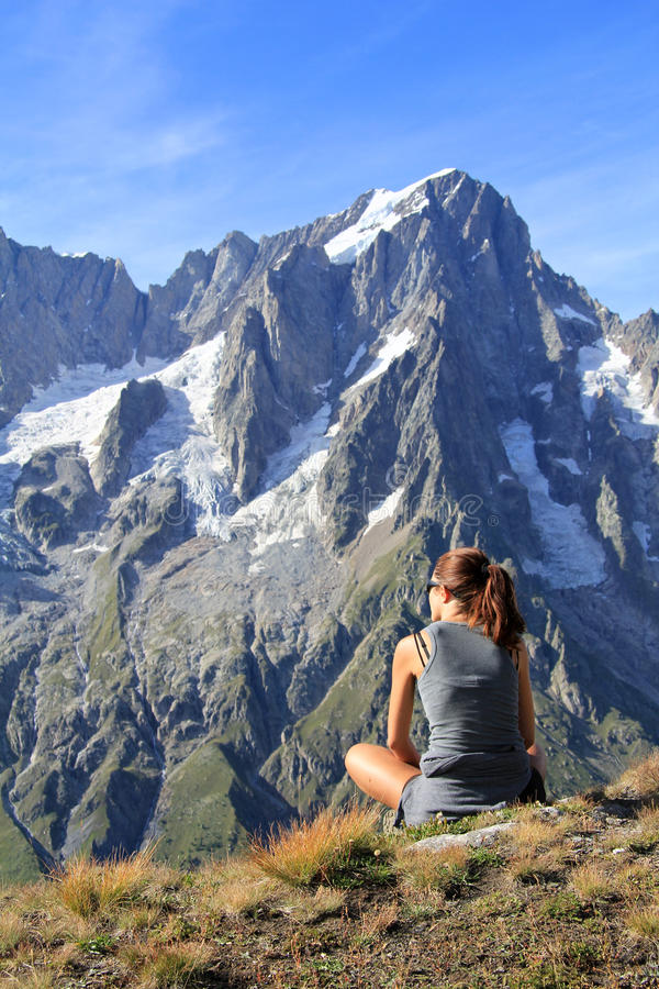 Download Hiker Woman Fascinated By Panoramic View Stock Photo - Image: 26359724