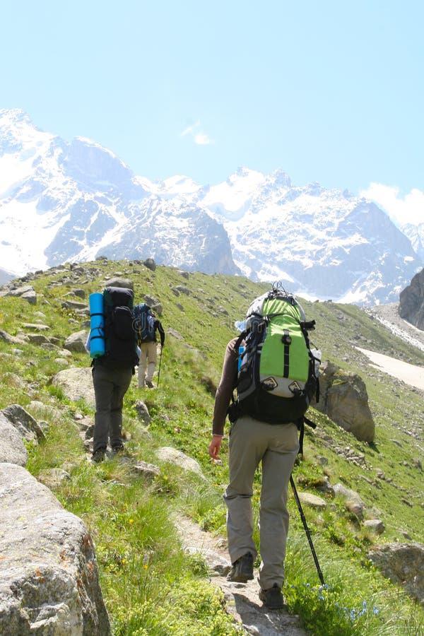 hikers семьи стоковая фотография rf