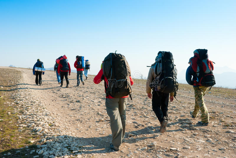 Download Hikers stock image. Image of hiker, group, activity, pursuit - 13808415