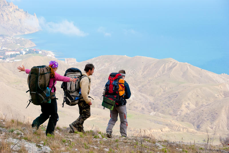 Download Hikers stock image. Image of hikers, coast, lifestyle - 13836799