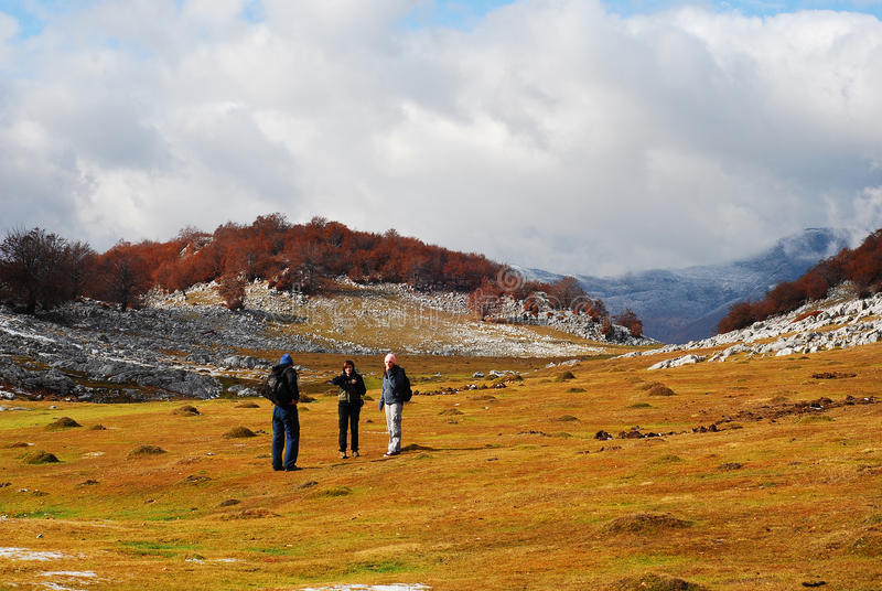 Download Hikers stock image. Image of nature, summer, landscape - 16037363