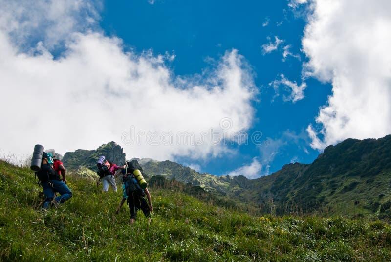 hikers стоковые изображения rf