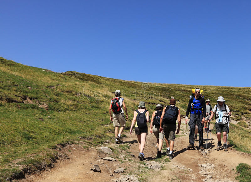 Hikers Editorial Stock Image