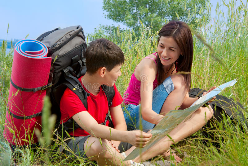 Download Hikers stock photo. Image of girl, adventure, journey - 23582350