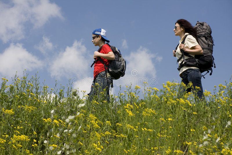 Download Hikers stock photo. Image of exercise, people, grass, healthy - 5092614