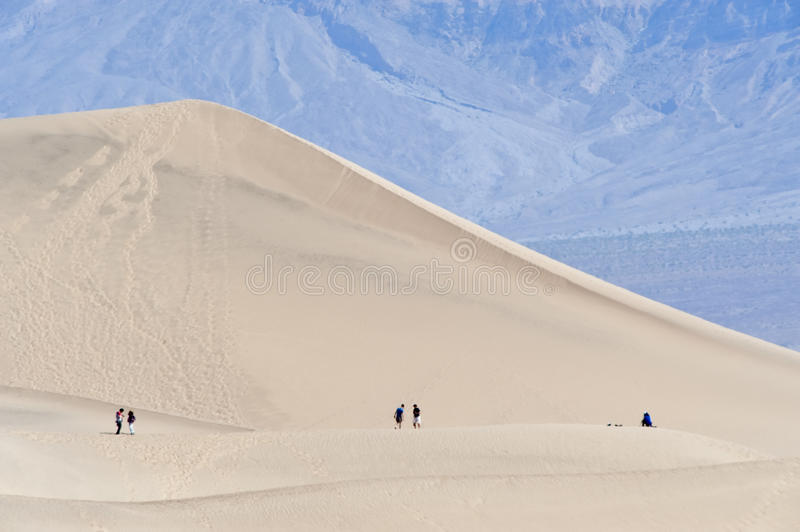 Download Hikers in Death Valley stock photo. Image of exploration - 14100368