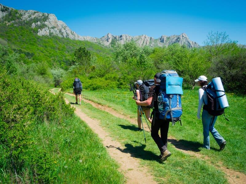 Download Hikers Group Trekking In Crimea Stock Image - Image: 35482343