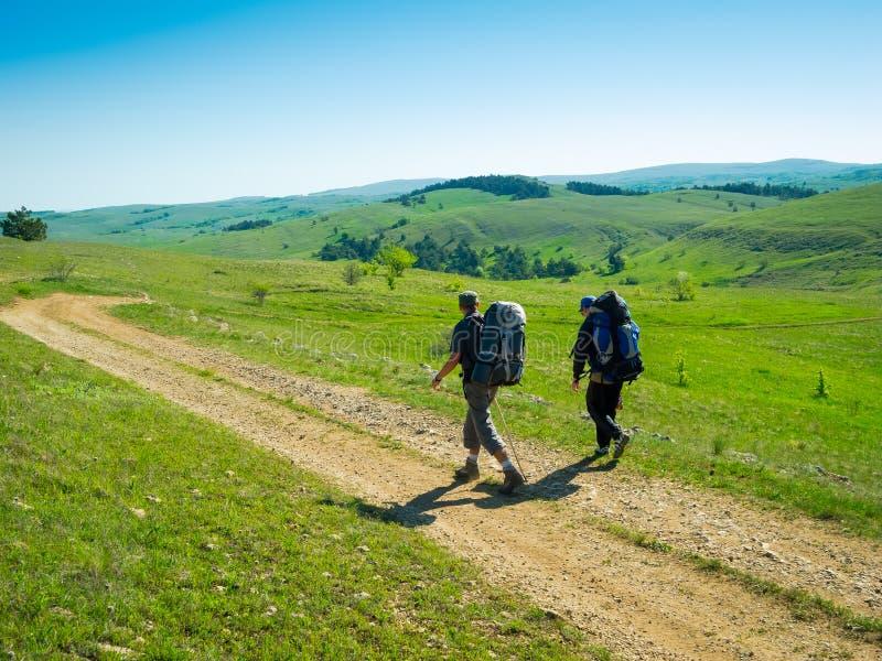 Download Hikers Group Trekking In Crimea Stock Image - Image: 35482587