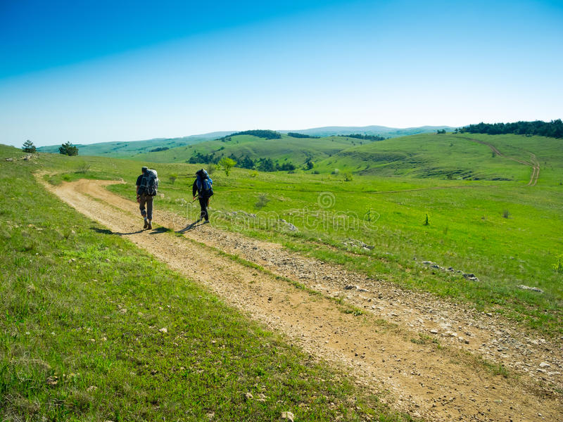 Download Hikers Group Trekking In Crimea Stock Photo - Image of male, activity: 35482608