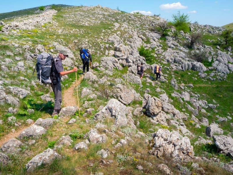 Download Hikers Group Trekking In Crimea Stock Photos - Image: 35482703