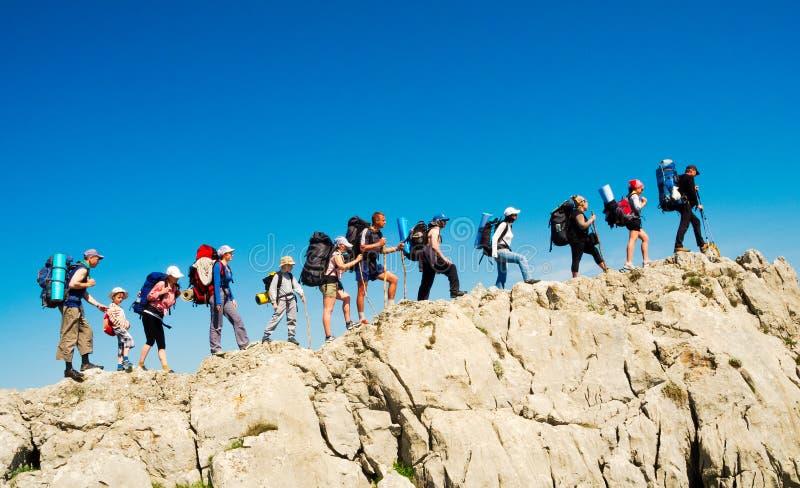 Download Hikers Group Trekking In Crimea Stock Image - Image: 36777537