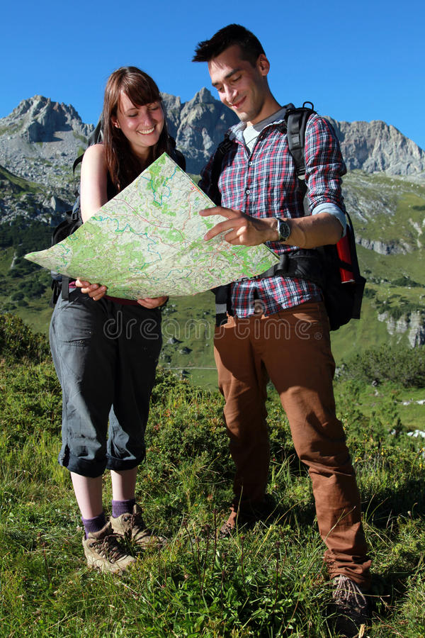 Hikers In The Mountains Royalty Free Stock Photo