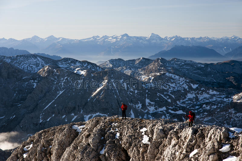 Download Hikers in the mountains stock photo. Image of active - 28449090