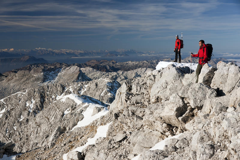 Download Hikers in the mountains stock image. Image of effort - 28449127