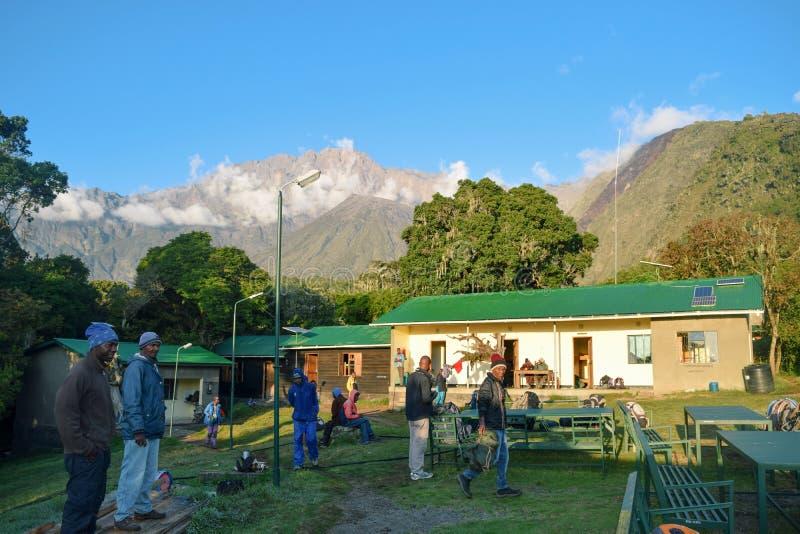 Mariakamba Hut Mount Meru, Arusha National Park royalty free stock photo