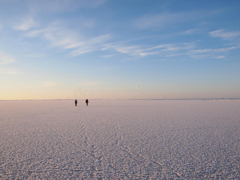 Download Hikers on a sea ice stock photo. Image of europe, sunset - 18970450