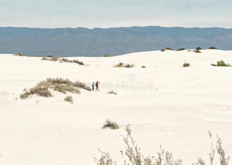 Hikers, White Sands stock photos