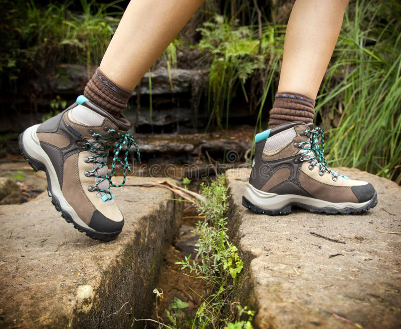 hiking ботинок стоковое фото rf