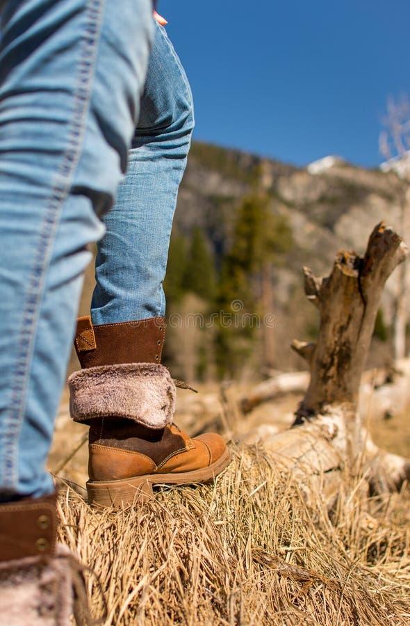 hiking ботинок стоковое изображение rf