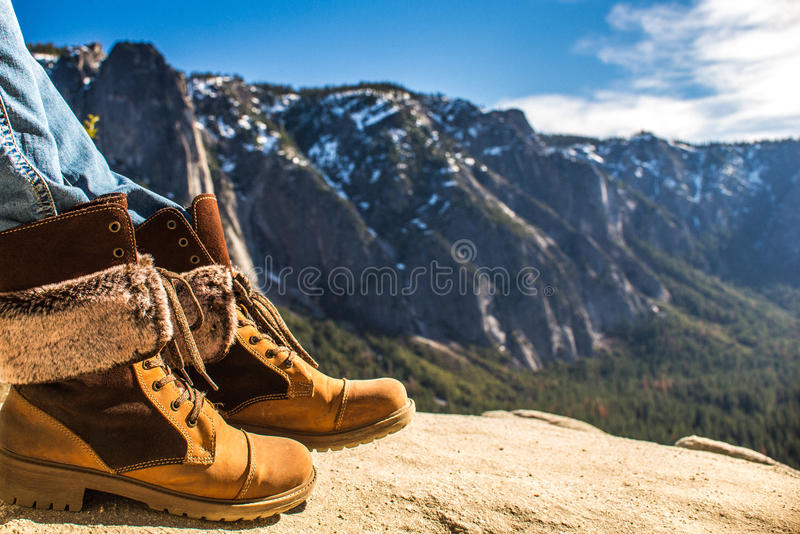 hiking ботинок стоковое изображение
