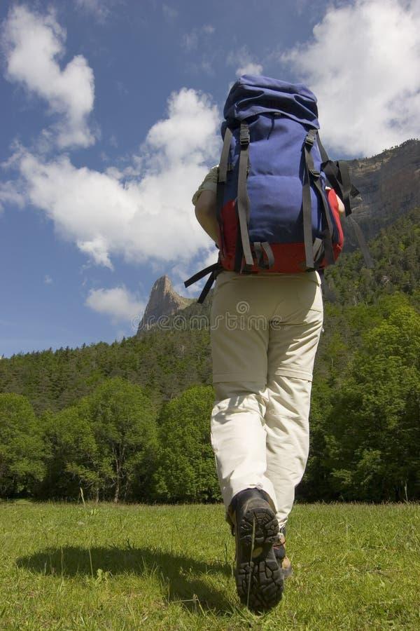 hiking горы стоковые изображения