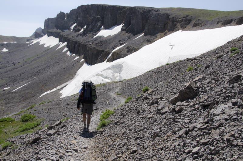 Hiking гребень Teton стоковое изображение rf