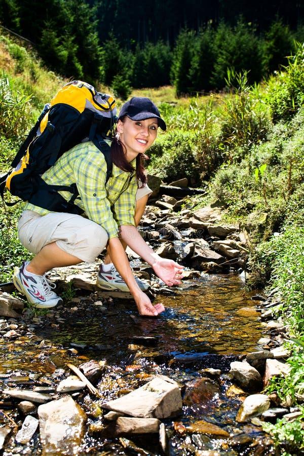 Hiking девушка 3 стоковые фото
