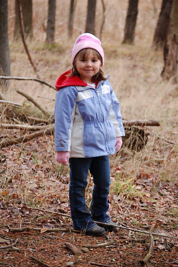 hiking девушки стоковая фотография