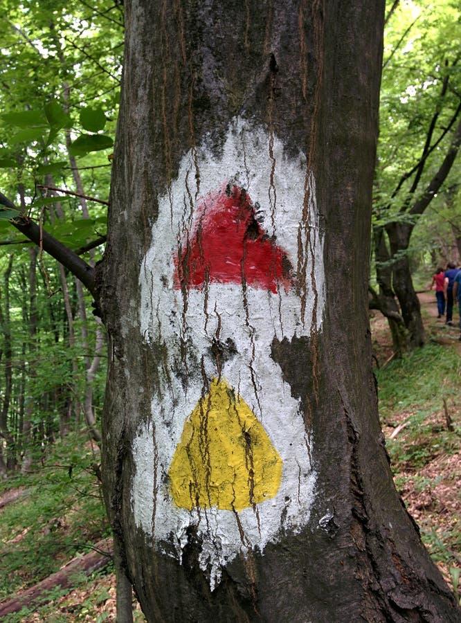 hiking метка стоковое изображение rf