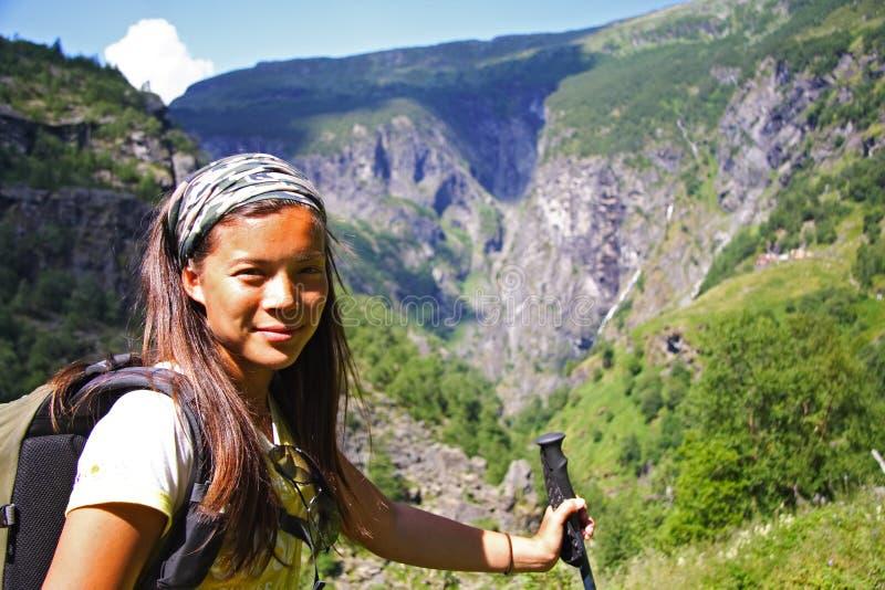 hiking Норвегия стоковая фотография rf