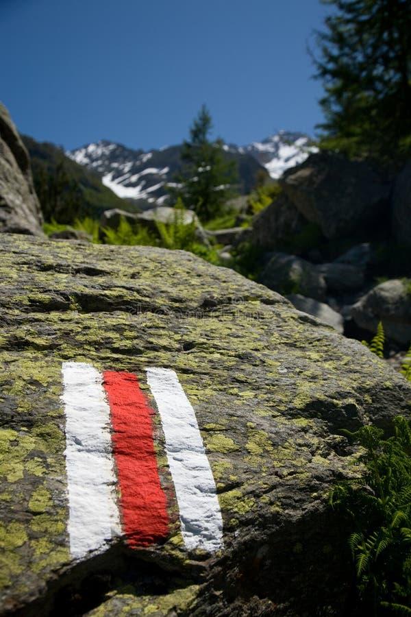 hiking тропка символа стоковое фото rf