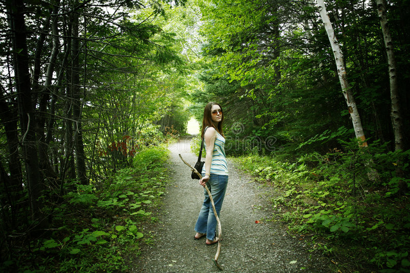 Download Hiking stock image. Image of adventure, vitality, lady - 1222259