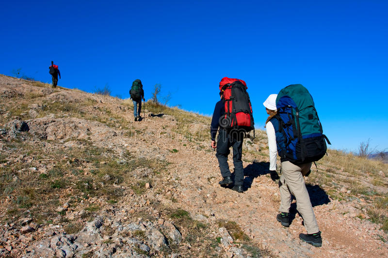 Download Hiking stock photo. Image of people, field, adventure - 12587956