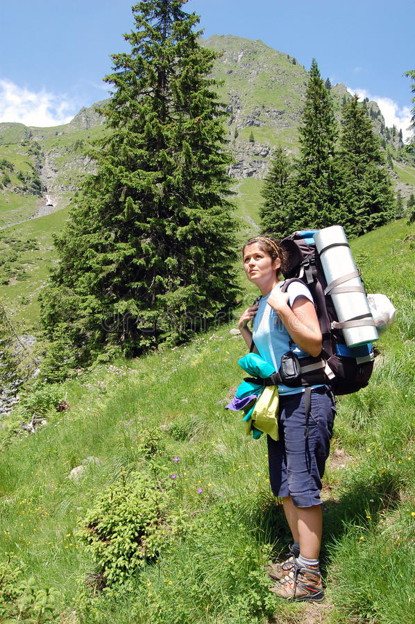 Download Hiking stock image. Image of expedition, green, hobby - 25590587