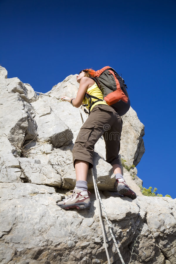 Download Hiking stock photo. Image of hiking, freedom, mountain - 6410166