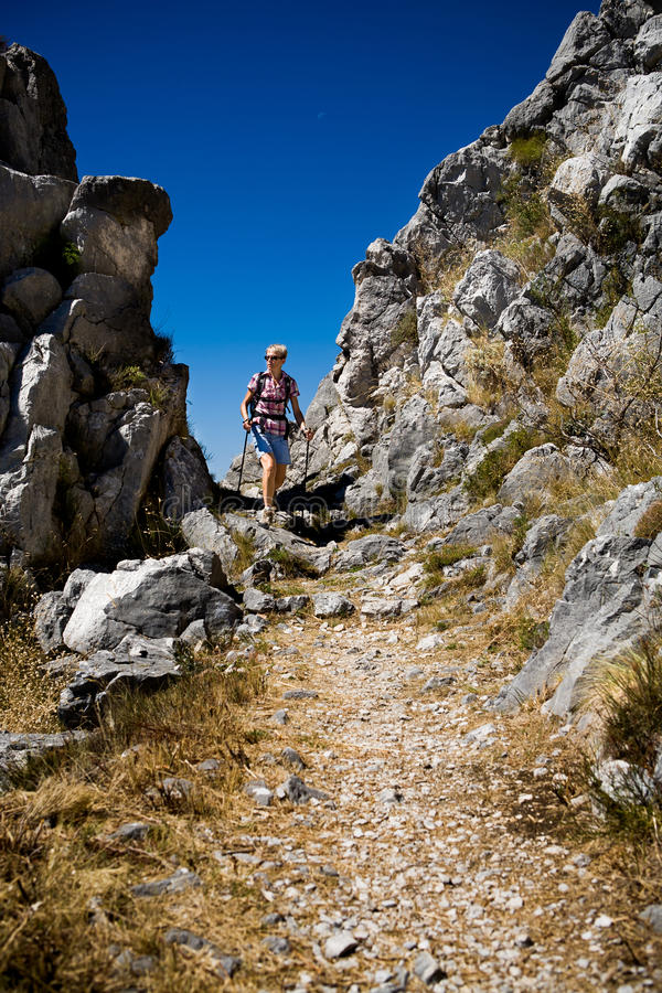 Download Hiking in Adriatic stock image. Image of outdoors, landscape - 22960169