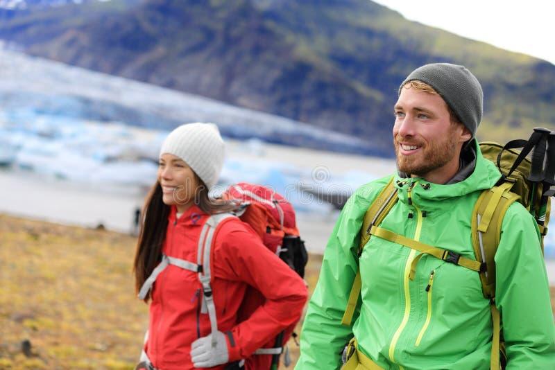 Hiking adventure travel people royalty free stock photos