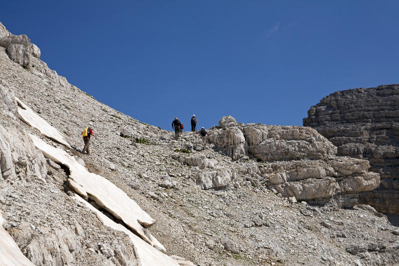 Download Hiking at Albanian Alps stock image. Image of adventure - 33063557