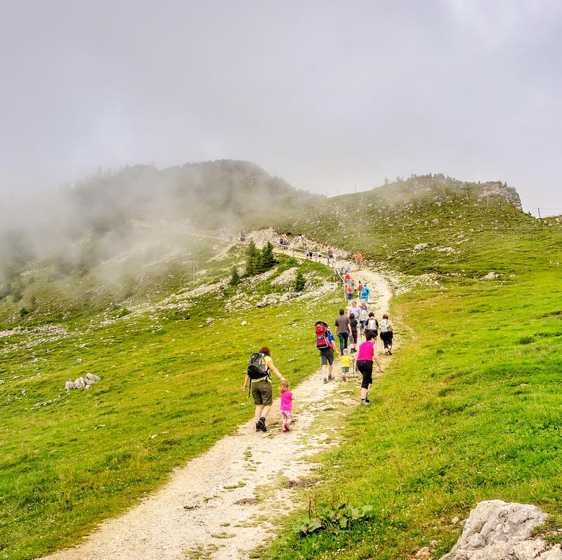 Hiking in the Alps royalty free stock images